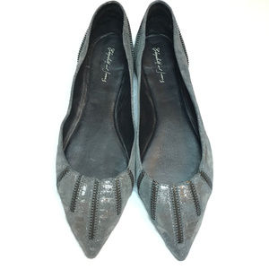 New Elizabeth and James Leather June Flats